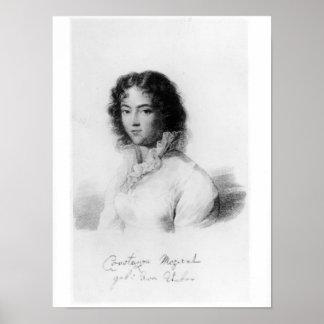 Portrait de Constanze Mozart 1828 Poster