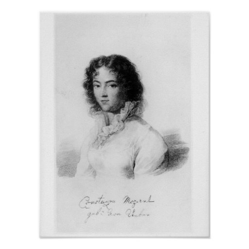 Portrait de Constanze Mozart 1828 Affiche