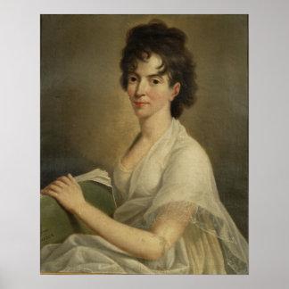 Portrait de Constanze veuve Mozart, 1802 Affiche