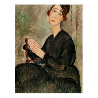 Portrait de Dedie Hayden, 1918 Carte Postale