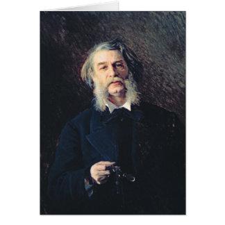 Portrait de Dmitri Vasilievich Grigorovich Carte De Vœux