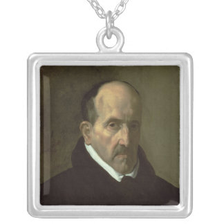 Portrait de Don Luis de Gongora y Argote 1622 Pendentif Carré
