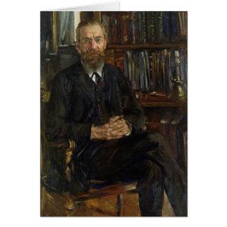 Portrait de Dr. Edouard Meyer 1910-11 Carte De Vœux
