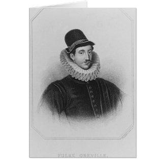 Portrait de ęr baron Brooke de Fulke Greville Carte De Vœux