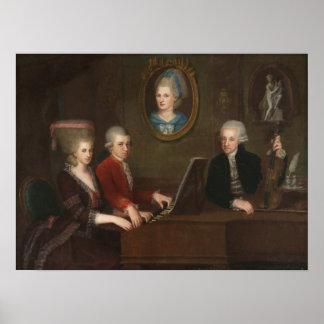 Portrait de famille de Mozart Posters