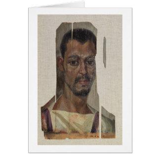 Portrait de Fayum (cire d'encaustic sur le bois) Carte De Vœux