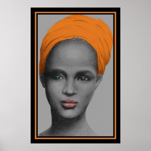 Portrait de femme d'Afro-américain Posters