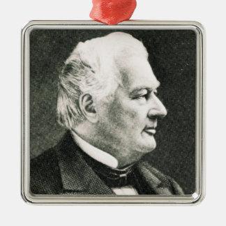 Portrait de Fillmore Millard Ornement Carré Argenté