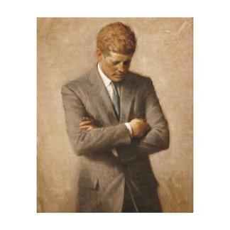 Portrait de fonctionnaire de John F. Kennedy Toiles