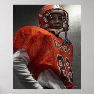 Portrait de football américain adolescent (de posters