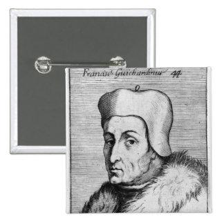 Portrait de Francesco Guicciardini Badge Carré 5 Cm