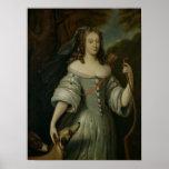 Portrait de Francoise Louise de la Baume Posters