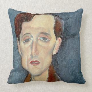 Portrait de Franz Hellens, 1919 (huile sur la Oreillers