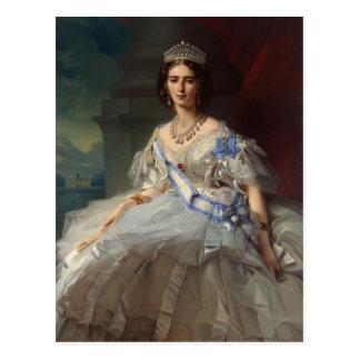 Portrait de Franz Winterhalter- de princesse Tatia Carte Postale