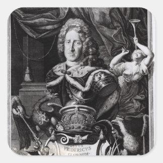 Portrait de Frederick William I Stickers Carrés