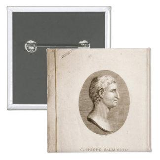 Portrait de Gaius Crispus Sallust Badge Carré 5 Cm