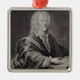 Portrait de Georg Philipp Telemann Ornement Carré Argenté