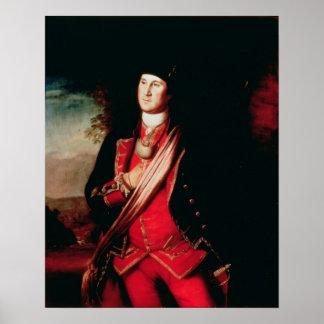 Portrait de George Washington 1772 Posters