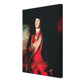 Portrait de George Washington 1772 Impression Sur Toile