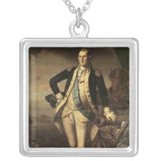 Portrait de George Washington, 1779 Pendentif Carré