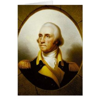 Portrait de George Washington Carte De Vœux