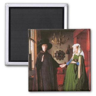 Portrait de Giovanni Arnolfini et son épouse Magnet Carré