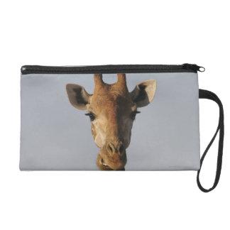 Portrait de girafe (camelopardalis de Giraffa) Sac À Main Avec Dragonne
