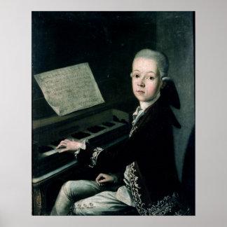 Portrait de Graf Firmian de Karl au piano Affiches