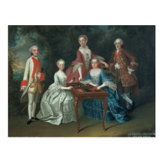 Portrait de groupe du jeu de famille de Harrach Carte Postale