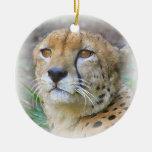 Portrait de guépard décorations pour sapins de noël