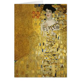 Portrait de Gustav Klimt- d'Adele Bloch-Bauer I Carte De Vœux