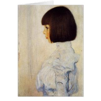 Portrait de Gustav Klimt de carte de note de