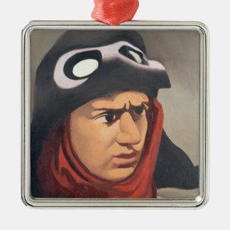 Portrait de Guynemer, 1921-23 Ornement Carré Argenté