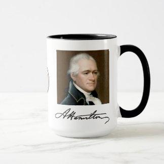 Portrait de Hamilton et tasse de faits