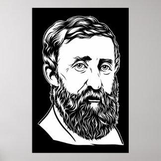 Portrait de Henry David Thoreau Poster