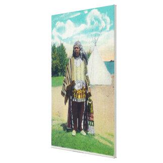 Portrait de Hiawatha # 2 Toiles Tendues