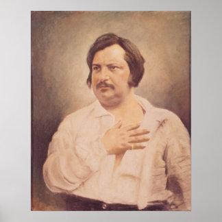 Portrait de Honore de Balzac Posters