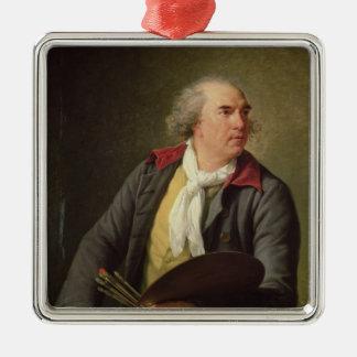 Portrait de Hubert Robert 1788 Ornement Carré Argenté