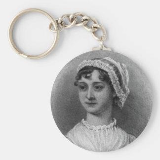 Portrait de Jane Austen Porte-clé Rond