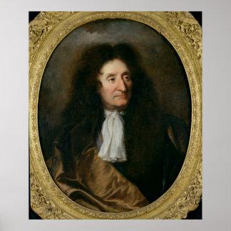 Portrait de Jean de La Fontaine Posters
