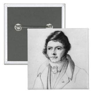 Portrait de Jean-Francois Champollion, 1830 Badge Carré 5 Cm