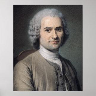 Portrait de Jean-jacques Rousseau Posters