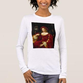 Portrait de Jeanne d'épouse d'Aragon (c.1500-77) T-shirt À Manches Longues