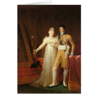 Portrait de Jerome Bonaparte et son épouse Carte De Vœux