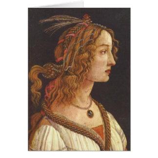 Portrait de jeune Simonetta Vespucci Cartes