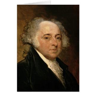 Portrait de John Adams Carte De Vœux