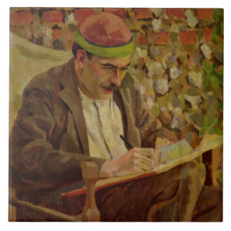 Portrait de John Maynard Keynes (1883-1946) (huile Grand Carreau Carré