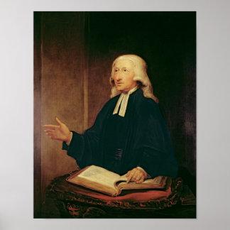 Portrait de John Wesley 1788 Posters