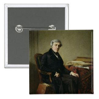 Portrait de Jules Michelet Badge Carré 5 Cm