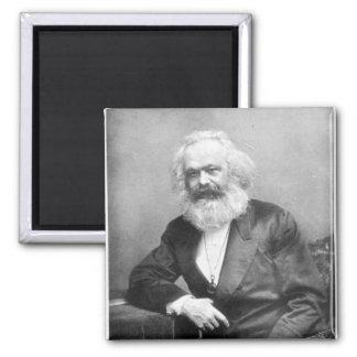 Portrait de Karl Marx Magnet Carré
